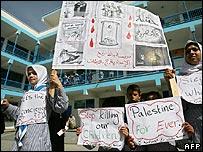 Palestinas protestan por las medidas de Israel