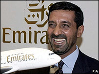 الشيخ أ�مد بن  سعيد آل مكتوم، رئيس طيران الإمارات