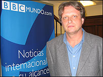 Yves Heller del Comité Internacional de la Cruz Roja en Bogotá, Colombia en la redacción de BBC Mundo.