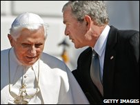 Pope Benedict XVI and US President George Bush