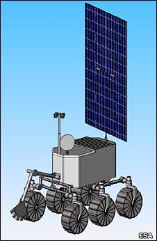 O Rover que a ESA poderá colocar na Lua (http://newsimg.bbc.co.uk)