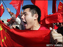 Manifestantes chinos