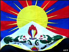 The flag of the Tibet  government-in-exile