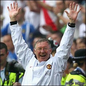 Ferguson celebrates his 10th title