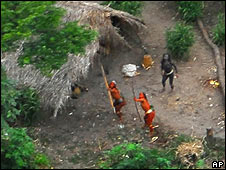 Uncontacted tribe near Brazil-Peru border
