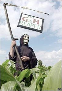 Protesta contra alimentos transgénicos