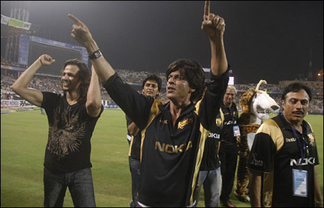 Shah Rukh Khan during an IPL match