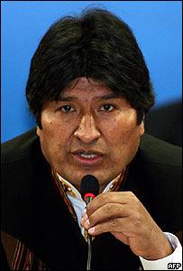 Evo Morales, presidente de Bolivia (foto de archivo)