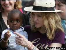 Madonna and David Banda