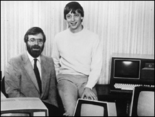 Gates with Paul Allen in 1981