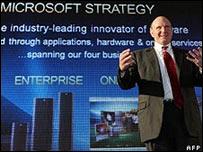 Steve Ballmer, director ejecutivo de Microsoft