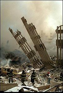 Ruinas del World Trade Center, Sept 11 de 2001, AP