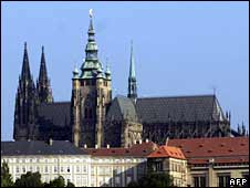 St Vitus Cathedral in Prague castle