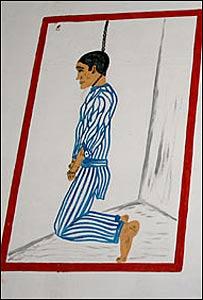 Pintura de una v�ctima en un campo de concentración, comisionada por Garc�a