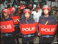 Malaysian riot police