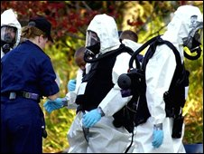 Anthrax investigation in Washington DC 2001