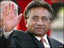President Musharraf in Islamabad in April 2008