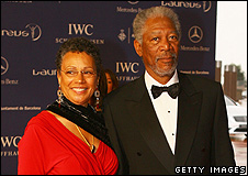 Myrna Colley-Lee and Morgan Freeman