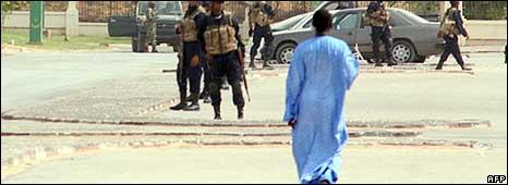 Man walking in Nouakchott