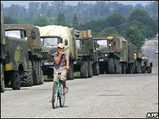 Russian military convoy in Abkhazia, 12/08