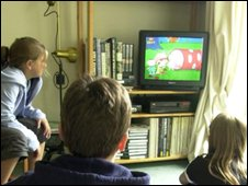 Children watching TV, BBC