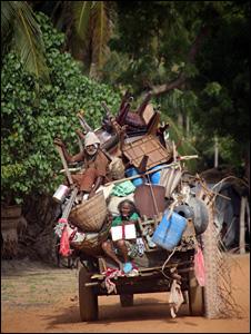 Displaced people in northern Sri Lanka
