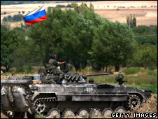 Russian tank in Georgia (16 August 2008)