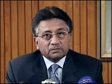 President Musharraf live on TV, 18th August