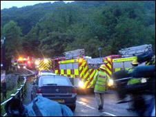 Emergency services near the scene [James Hughes]