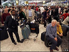 Passengers at Heathrow's Terminal 5