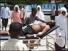 Wounded man in Mogadishu