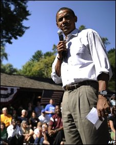 Barack Obama speaks in Wisconsin
