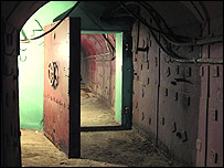 Room inside the bunker