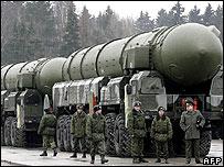 Russian Topol intercontinental ballistic missiles