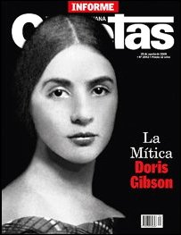 Front page of Caretas showing a portait of Doris Gibson