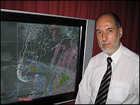 Victor Jorge Leis, director del Servicio Meteorológico Nacional