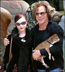 Evan Rachel Wood and Mickey Rourke