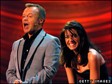 Graham Norton and Claudia Winkleman
