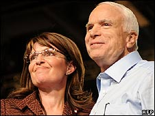 Sarah Palin and John McCain (6 September)