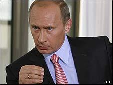 Russian Prime Minister Vladimir Putin in Sochi (August 2008)
