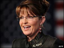 Sarah Palin in Anchorage, Alaska, 13 Sept