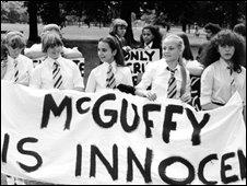 Grange Hill pupils protesting