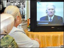 Survivors of the Srebrenica massacre and their relatives watched the hearing
