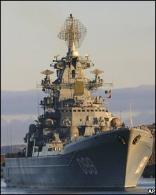 nuclear-powered Kirov-class battlecruiser Pyotr Veliky