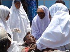 Nurses help man hit by mortar