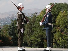 Guards at Ataturk's Mausoleum in Ankara