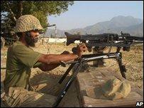 Pakistani soldier in Bajur