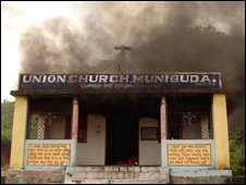 Christian church in Phulbani District of Orissa state, 26/08
