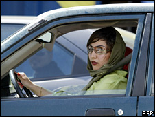 Iranian woman in Car