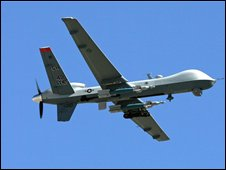 "Archive image of a US ""hunter-killer"" drone, the MQ-9 Reaper, which has been deployed in Afghanistan"
